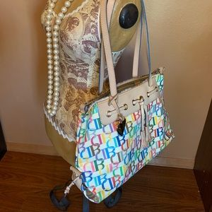 Dooney & Bourke Multi Coated Canvas Leather Tote